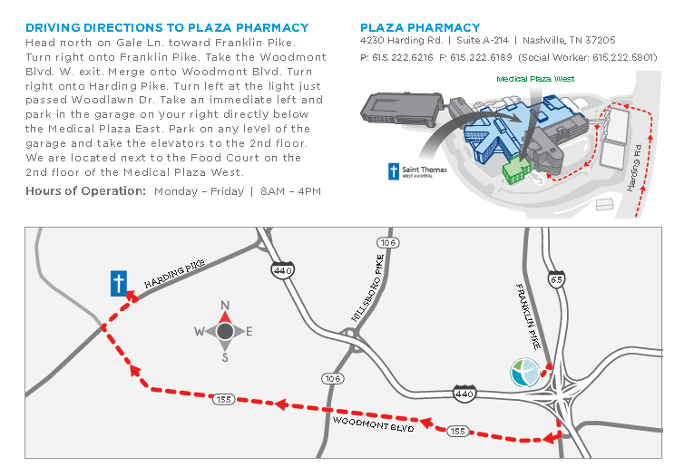 access to pharmacy - driving directions